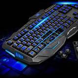 Игровой комплект клавиатура и мышь V100 (с подсветкой), фото 7