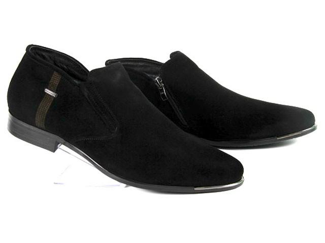 Замшевые мужские зимние ботинки на молнии ESSE A28-4-A16M  45