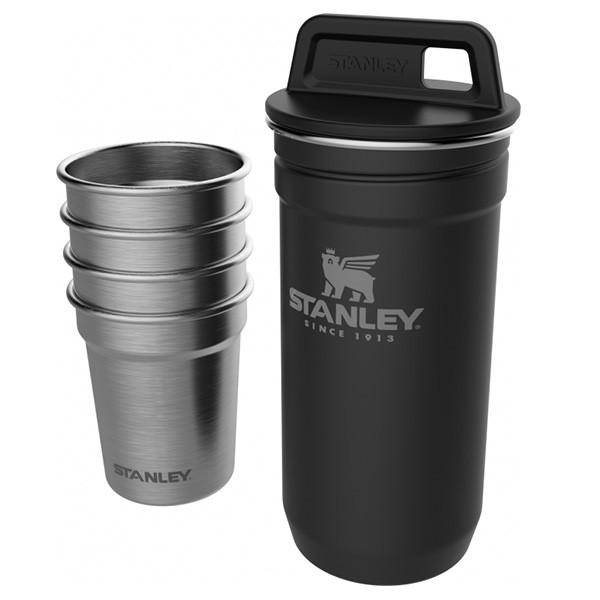 Подарочный набор Stanley Adventure Combo (фляга (0,59л) + 4 рюмки), черный