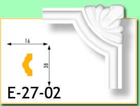 Кутовий елемент Е27-02 17х20мм 15см.