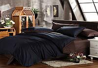 Двуспальный комплект. Черно-коричневое постельное постельное белье Простыня на резинке