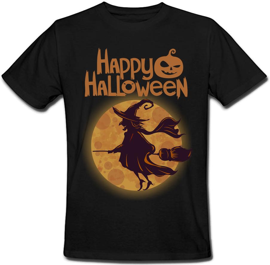 Футболка Happy Halloween (чёрная)