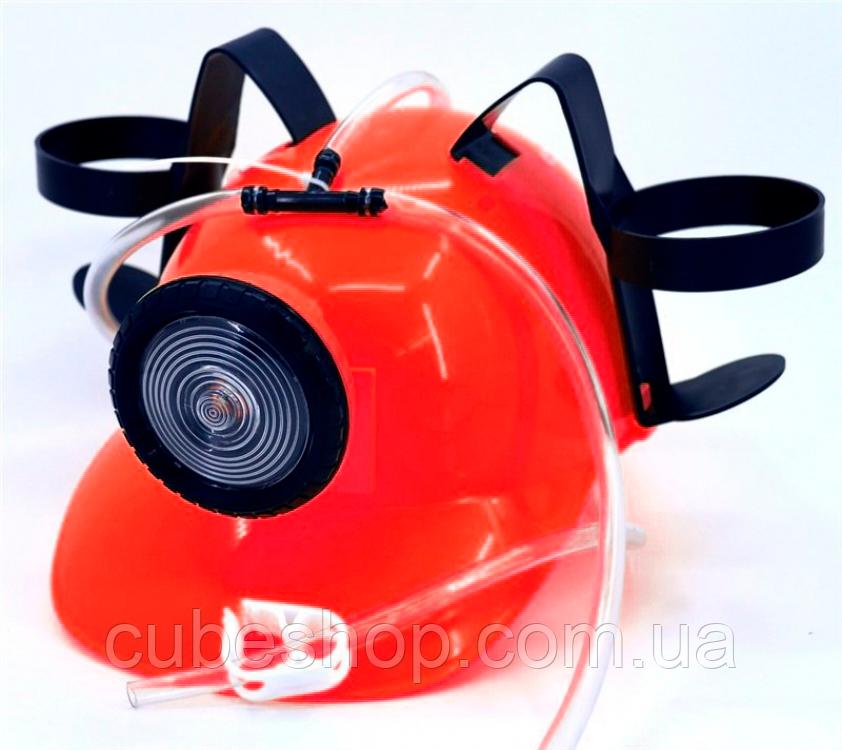 Шлем для пива с фонариком (красный)