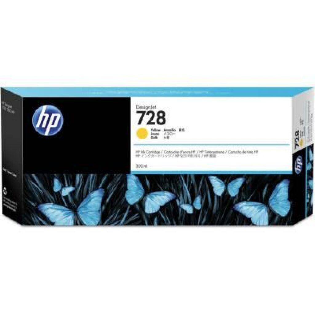 Картридж HP DJ No.728 Yellow, DesignJet T730/T830 300 ml (F9K15A)