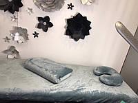 Комплект серебро: чехол, плед, подушка
