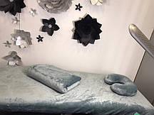 Комплект срібло: чохол, плед, подушка