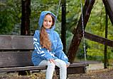 Детская джинсовая парка на меху джинсовая куртка с капюшоном  размер: 128, 134, 140, 146, 152, фото 5