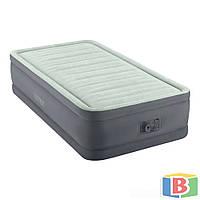 Надувная кровать Intex Размер 99х191х46  встроенный электрический насос Односпальная