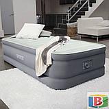 Надувная кровать Intex Размер 99х191х46  встроенный электрический насос Односпальная, фото 3