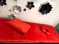 Комплект чехол на кушетку и плед, красный, фото 1