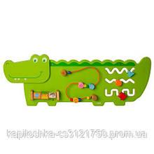 Развивающая моторику игрушка  Бизиборд Деревянный крокодил MD 2013 Размер 97 см