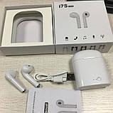 Блютус гарнитура I7S TWS Bluetooth белый, фото 4