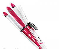 Стайлер «Gemei GM 2921 3в1», Утюжок + гофре, Выпрямитель для волос, Щипцы для укладки волос