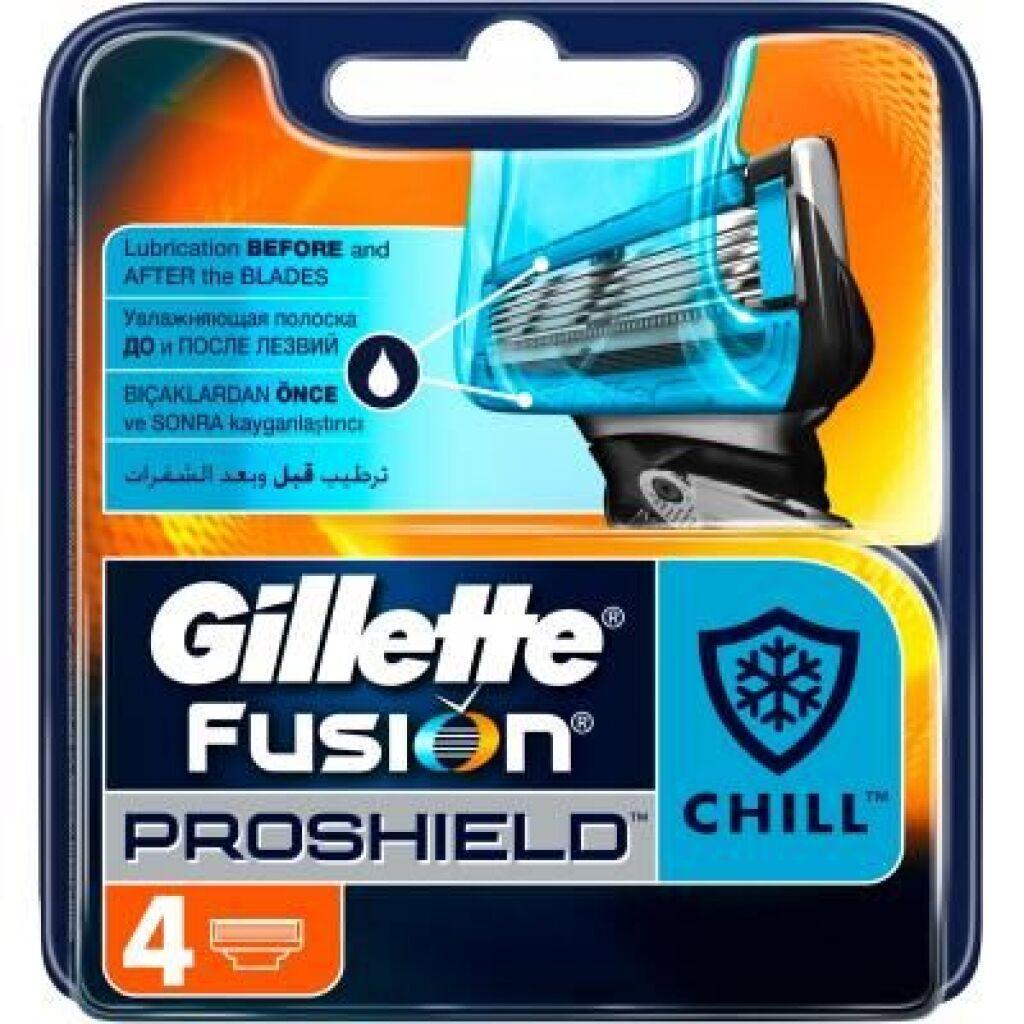 Сменные кассеты Gillette Fusion ProShield Chill 4 шт (7702018412518)