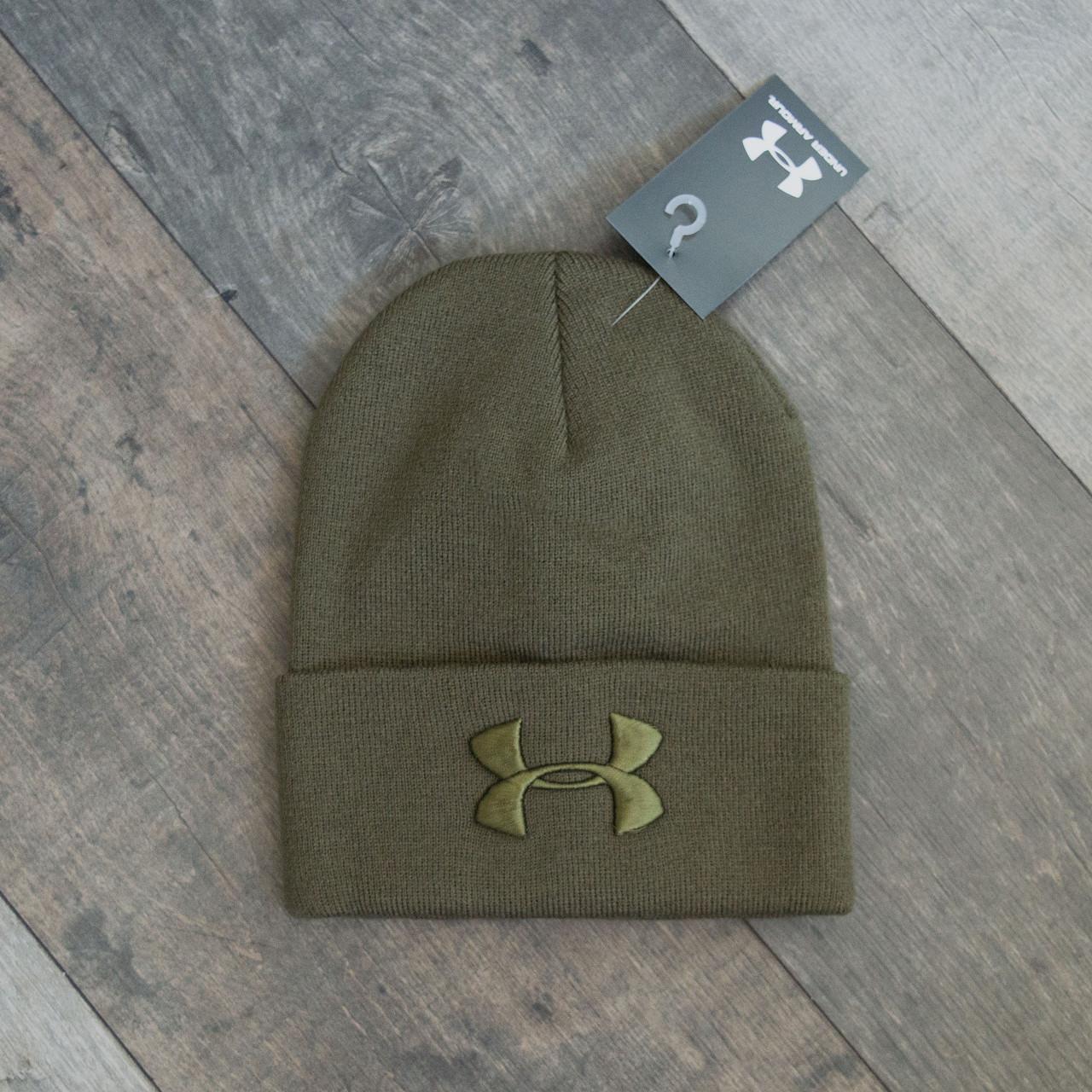 Зимова шапка хакі унісекс Under Armour