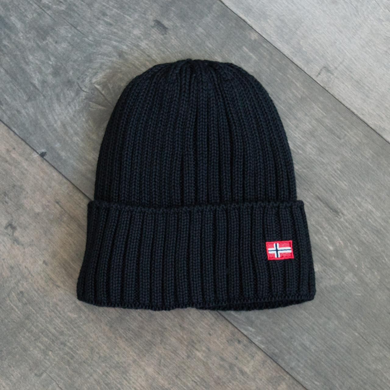 Зимова шапка чорна унісекс Napapijri