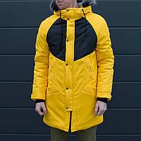 Зимова куртка парку чоловіча жовто-чорна водовідштовхувальна Taranis від бренду ТУР