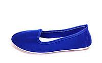 Женские слипоны мокасины синие