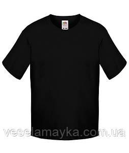 Черная детская футболка Премиум