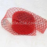 Регилин, 4,5 см,  красный  с люрексовой сеткой
