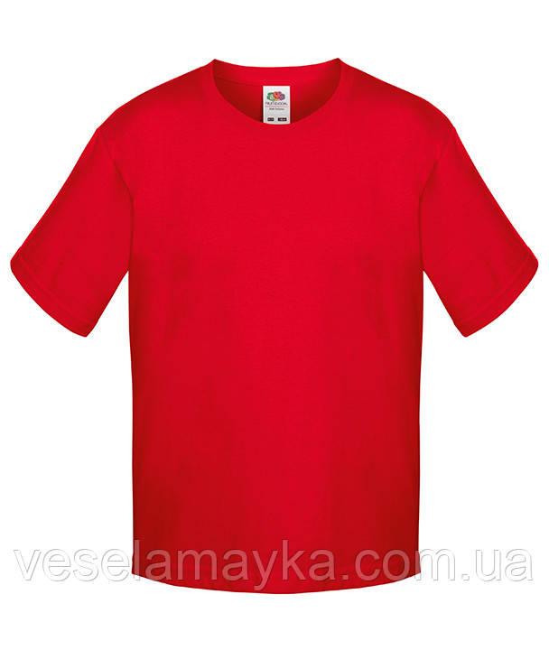 Красная детская футболка Премиум