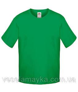 Зеленая детская футболка Премиум