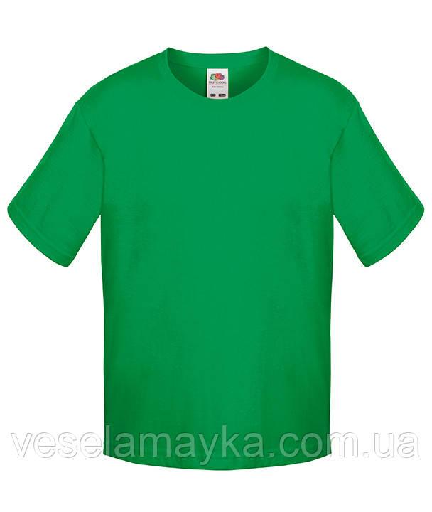 Зелена дитяча футболка Преміум