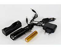 Фонарик BL 1812-T6, Тактический фонарик полицейский, Светодиодный фонарик, Компактный ручной фонарик