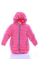 Куртка Евро для девочки светло коралловый с бирюзовым
