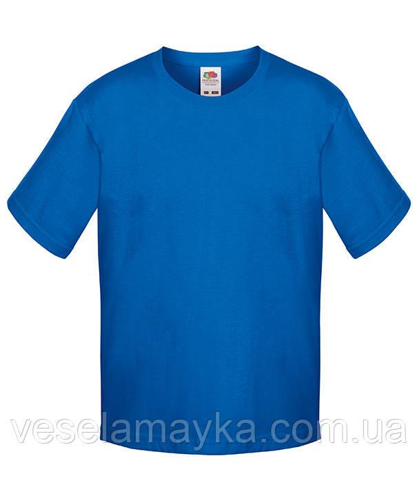 Синяя детская футболка Премиум