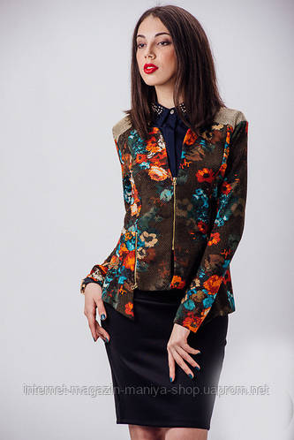 Женский пиджак цветы