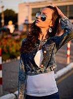Пиджак для женщин джинсовый