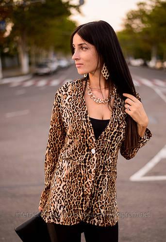 Пиджак для женщин леопард
