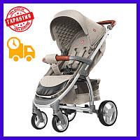 Прогулочная коляска CARRELLO Vista бежевая с дождевиком (CRL-8505 Stone Beige), Карело Виста, детская коляска книжка
