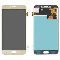 Дисплейный модуль (дисплей и сенсор) для Samsung J400 Galaxy J4 (2018), золотистый, оригинал
