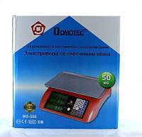 Весы ACS 50kg/5g MS 586/986 Domotec 6V, Торговые электронные весы до 50 кг, Весы для торговли, Настольные весы