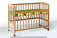 """Кроватка """"AMELI Амели"""" подвижной боковиной с дугами и колесами (600 * 1200) (БУК), кровать для новорожденных"""
