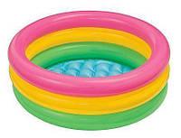 """Бассейн детский 57107 Рассвет"""" надувное дно 61*22см, Бассейн для ребенка с надувным дном, Надувной бассейн"""