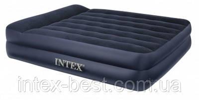 Intex 66720 - надувная кровать pillow rest raised bed 203x152x47см