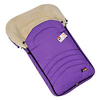 """Большой зимний конверт для коляски и санок """"BIG"""" на овчине, с прорезями для ремней.Фиолетовый"""