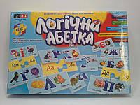 DankoToys Логічна абетка 2В1 Друкарські та прописні букви Розвиваючі двосторонні пазли для малюків