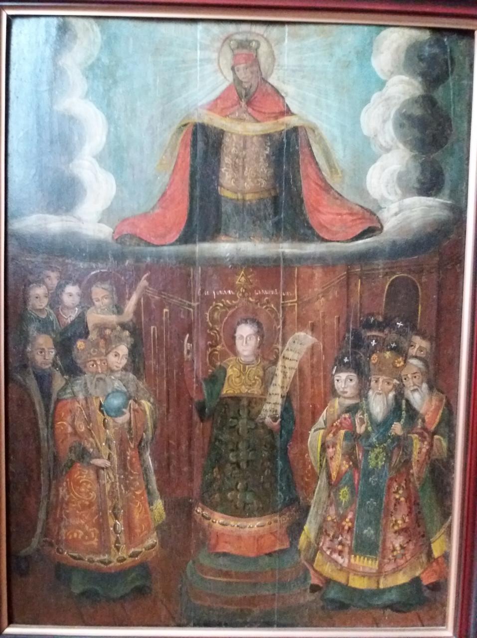 Козацкая икона Покрова Пресвятой Богородицы 18 век (Козацька ікона Покрова Пресвятої Богородиці)