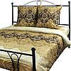 """Комплект постельного  белья Руно™ """"Beige Brown"""" 143х215см сатин-люкс"""