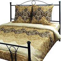 """Комплект постельного  белья Руно™ """"Beige Brown"""" 143х215см сатин-люкс, фото 1"""