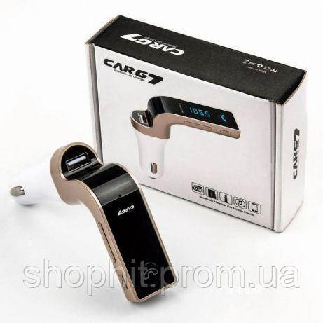 Трансмитер FM MOD G7 + BT, Модулятор в машину, Трансмиттер с экраном, Автомодулятор, Bluetooth FM трансмиттер