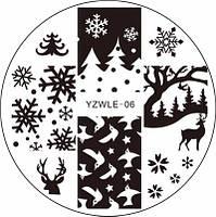 Пластина для стемпинга YZWLE 06