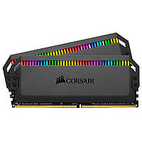 DDR4 2x8GB/3200 Corsair Dominator Platinum RGB Black (CMT16GX4M2Z3200C16)
