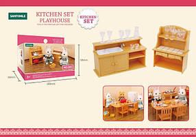 Мебель для кухни флоксовых животных B03 барная мебель с посудой (аналог Sylvanian Families)