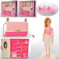 Лялька 5021 шарнірна, сумочка, аксесуари, сукні 2 шт., 3 види, кор., 41-33,5-9 см.