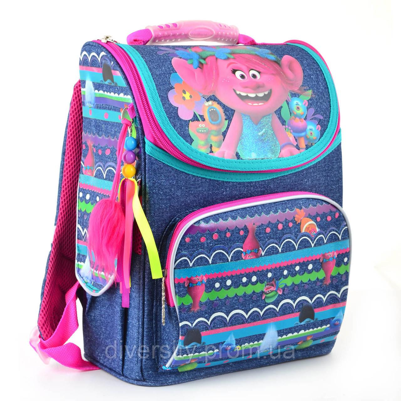 Школьный рюкзак каркасный 1 Вересня H-11 Trolls, 34*26*14